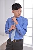 更改商標中,庫存售完為止【LD-904】經典辦公室 (藍底黃條紋) 男長袖襯衫