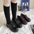 皮鞋 小皮鞋女2021春季新款韓版英倫學院風平底單鞋學生日系jk制服鞋子 【99免運】
