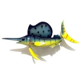 【收藏天地】創意小物*海洋生物冰箱貼-動感旗魚 / 家飾 送禮 趣味 兒童
