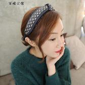 簡約蕾絲邊發箍日韓版春夏毛線頭箍發飾