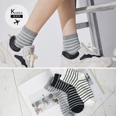 《ZB0580》韓國製簡約質感條紋短襪 OrangeBear