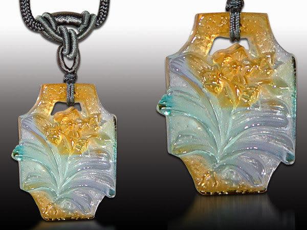鹿港窯~居家開運水晶琉璃項鍊~春蘭◆附精美包裝◆免運費送到家