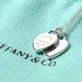 Tiffany&Co.正品 全新 Return to Tiffany經典系列 迷你經典雙心純銀項鍊