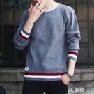 毛衣男秋冬季韓版潮流長袖毛線上衣服寬鬆加絨加厚保暖針織打底衫 3C優購