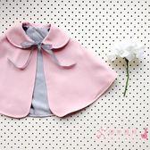 新年鉅惠 嬰兒披風斗篷公主秋冬外出女寶寶披肩洋氣棉質保暖防風0-1-3歲潮