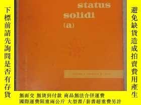 二手書博民逛書店physica罕見status solidi (a) volume 6 number 2 1971 (P2526)