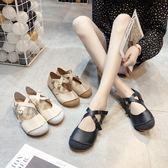 森擊芭蕾平底豆豆鞋女百搭夏季新款軟底復古奶奶鞋淺口女單鞋