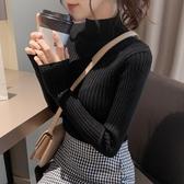 高領毛衣 2020秋冬新款半高領打底衫毛衣女修身內搭針織衫上衣黑色百搭洋氣-米蘭街頭