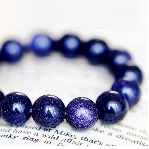 開運招財好人緣 天然星空藍砂石 串珠手環