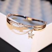 手鐲 歐美飾品手鍊女韓版開口手鍊韓國時尚手鍊五星鑲鑽 - 歐美韓熱銷