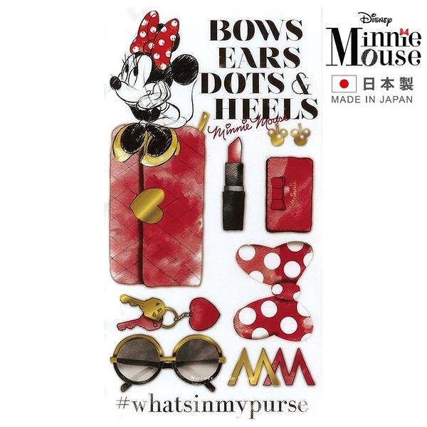 【 日本製 】日本限定 迪士尼 米妮 時尚美妝風版 口罩收納夾 / 口罩收納套