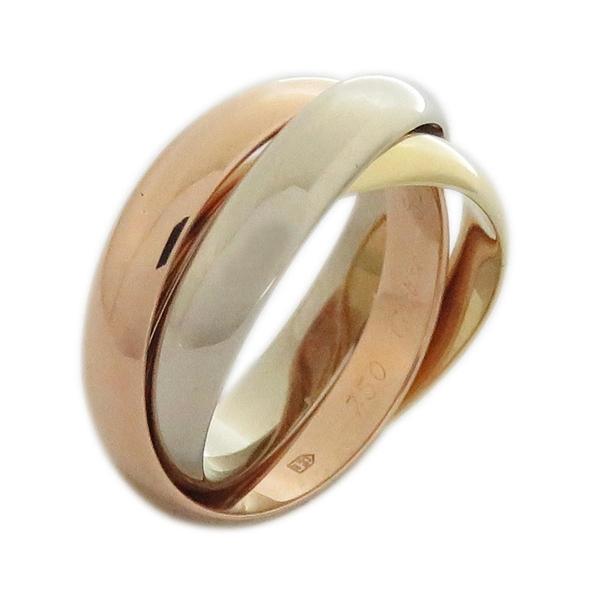 Cartier 卡地亞 Trinity系列 18K金三色三環戒 Ring #52【二手名牌 BRAND OFF】