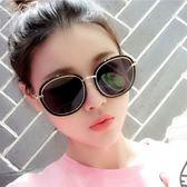墨鏡女潮2019明星款個性太陽鏡黑色偏光圓臉大框機車時尚彩色眼鏡  星空小鋪