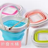 快力文折疊硅膠美術涮筆洗筆筒桶大號水粉顏料水彩畫畫專用戶外水桶繪畫可折疊伸縮