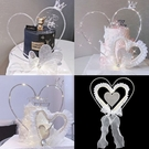 [拉拉百貨]三層愛心型裝飾 蛋糕裝飾 蕾絲愛心 情人節 烘培 裝扮 場地佈置