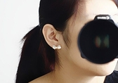 蝴蝶結耳環(無耳洞用)