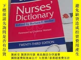 二手書博民逛書店nurses罕見dictionary 護理學英文 詞典Y2685