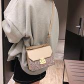 韓版小包包女2018新款潮亮片時尚斜跨包少女ins超火包鏈條單肩包|米莎
