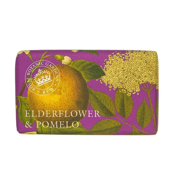岡山戀香水~Kew Gardens 英國皇家植物園 乳木果油天然香皂 240g (接骨木花香柚) ~優惠價:299元