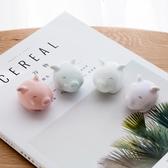 中大碼T恤 創意陶瓷生肖豬年小擺件 簡約可愛桌面裝飾品 情侶新年禮物一對女