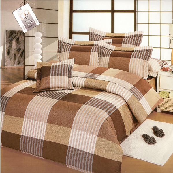【Jenny Silk名床】前衛潮流.100%精梳棉.加大雙人床包組兩用鋪棉被套.全程臺灣製造