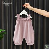 連身裝 嬰兒連身衣服夏季純棉短袖女寶寶幼兒夏裝韓版薄款吊帶包屁衣哈衣 3色