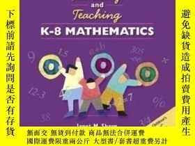 二手書博民逛書店Learning罕見And Teaching K-8 Mathematics (book & Videoworks