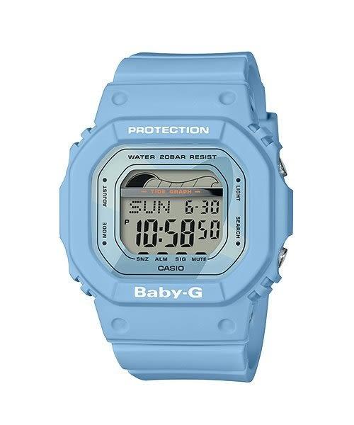 附台灣卡西歐保卡才是公司貨【時間光廊】CASIO 卡西歐 Baby-G 潮汐 防水 抗震 BLX-560-2 藍
