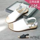 涼鞋 魚口大寬版面涼鞋 MA女鞋 T70...