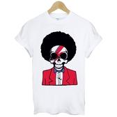 70s Afro Skull短袖T恤-2色 骷髏圖案爆炸頭搖滾吉他音樂DJ gildan Anvil 390