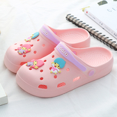 洞洞鞋 輕便防滑沙灘鞋包頭涼鞋孕婦護士厚底拖鞋平底