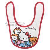 〔小禮堂〕Hello Kitty 棉質圍兜《白紅.多角色》口水圍兜.口水巾 4518645-38863