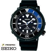 SEIKO PROSPEX 太陽能鮪魚罐黑藍限量膠帶潛水錶 46mm V147-0BL0B SBDN045J 公司貨
