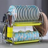 瀝水架雙層瀝水碗架碗柜碗筷收納柜多功能廚房置物架晾碗架洗碗架瀝碗架