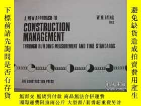二手書博民逛書店New罕見Approach to Construction Ma