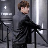 夾克 春季外套男韓版潮流修身帥氣新款青年男裝皮衣服男士春秋