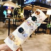 【NiNi Me】韓系髮飾 可愛甜美水晶小狗打結髮束 髮束 H9512