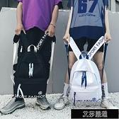 後背包 書包男女韓版原宿初中高中學生背包時尚潮流校園後背【新年快樂】