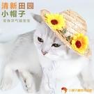 寵物狗狗帽子向日葵太陽花草帽貓咪頭飾攝影拍照道具搞怪裝飾品【小獅子】