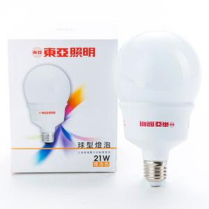 東亞 21W 省電球型 燈泡色 1P