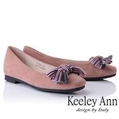 ★2018秋冬★Keeley Ann都會美感~秀氣蝴蝶結造型全真皮平底鞋(粉紅色) -Ann系列