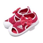 adidas 涼鞋 AltaVenture Minnie I 粉紅 白 米妮 魔鬼氈 涼拖鞋 基本款 童鞋 小童鞋【PUMP306】 D96910
