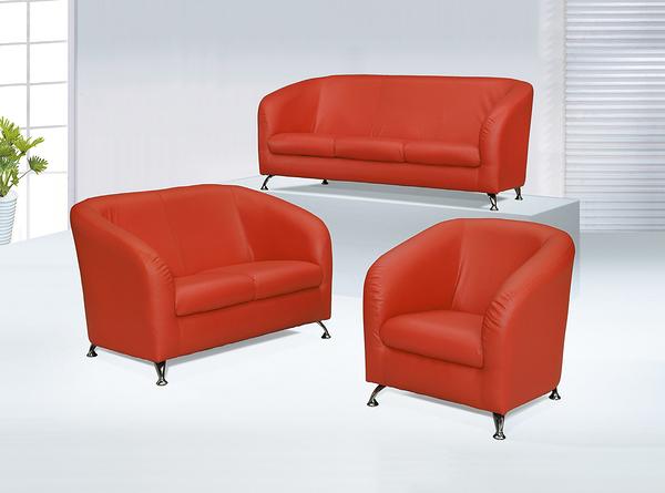 【 IS空間美學】小甜甜紅色沙發組 (1+2+3人座)