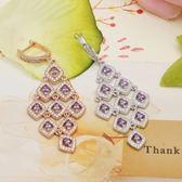 耳環 925純銀鑲鑽-典雅百搭生日情人節禮物女飾品2色73dm236[時尚巴黎]