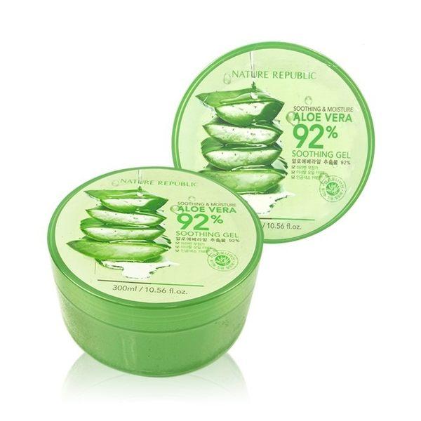 韓國 Nature Republic 92%蘆薈補水修護保濕凝膠 300mL ◆86小舖 ◆ 蘆薈膠