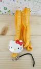 【震撼精品百貨】Hello Kitty 凱蒂貓~造型手機掛繩-KITTY大頭造型-黃色繩子
