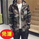 迷彩外套-連帽戶外休閒型男時尚200t6...