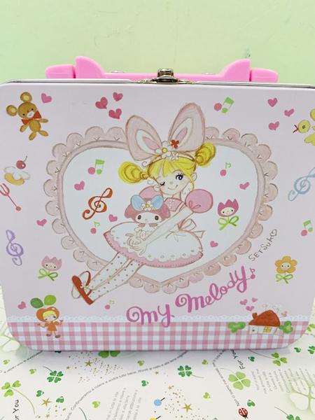 【震撼精品百貨】My Melody_美樂蒂~Sanrio 美樂蒂手提掀開收納盒-粉#13023