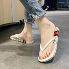 仙女拖鞋 人字拖鞋女外穿2021夏季新款夾腳涼拖鞋休閑沙灘鞋網紅百搭拖鞋女
