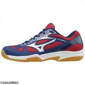 Mizuno Cyclone Speed 2 [V1GA198003] 男鞋 運動 羽球 排球 耐磨 止滑 美津濃 藍白